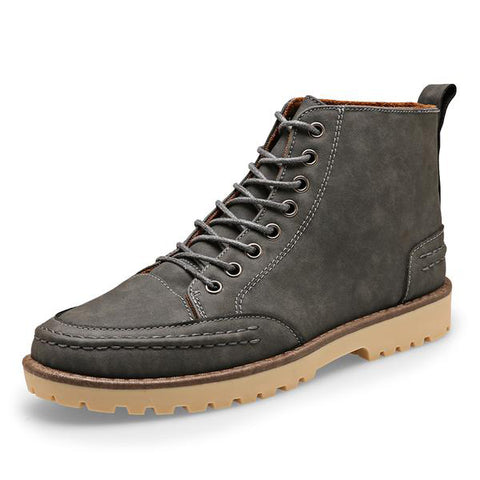 Leather Lace Up Martin Boots for Men