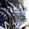 Image of Reversible Printed Jacquard Blanket