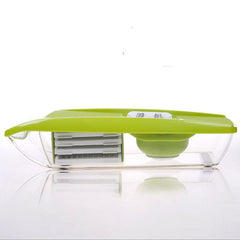 Multifunction Vegetable Cutter with 5 Interchangeable Stainless Steel Blades