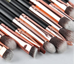 12-Piece Black & Rose Gold Eye Makeup Brush Set