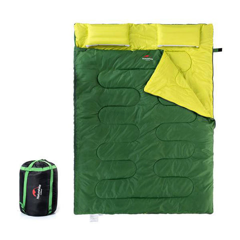 Lightweight Double Sleeping Bag with Pillows
