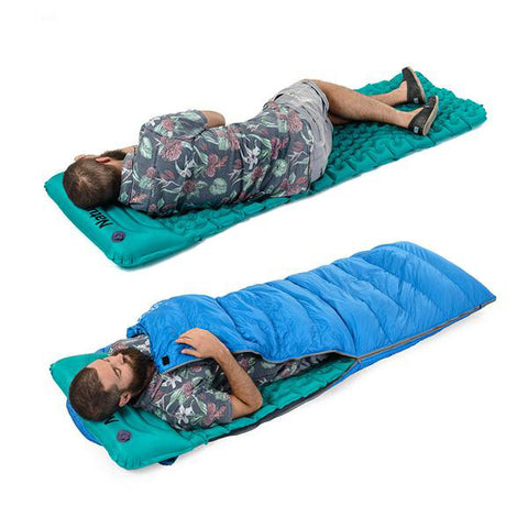 Portable Inflatable Sleeping Mat with Pillow