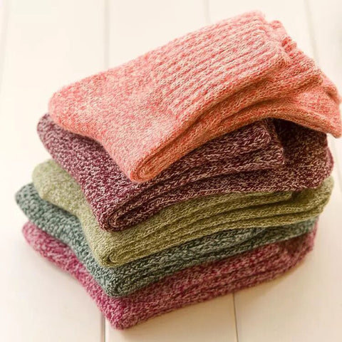 Short Knitted Cashmere Socks for Women