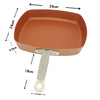 Image of Non-stick Red Copper Square Frying Pan