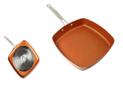 Non-stick Red Copper Square Frying Pan
