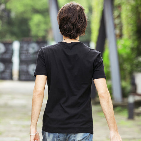 3D Lightning Print Cotton T-Shirt for Men