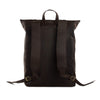 Image of Roll Top Genuine Leather Backpack