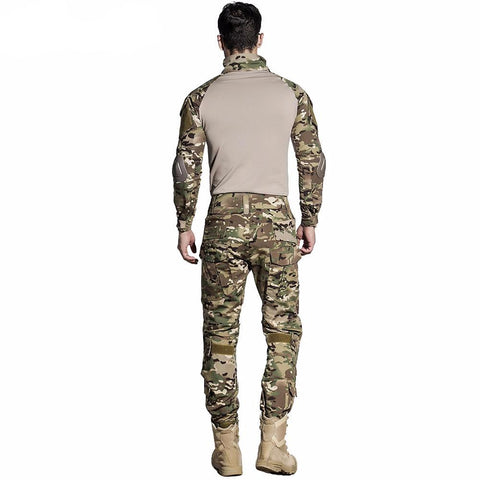 Camouflage Military Tactical Uniform with FREE Knee Pads
