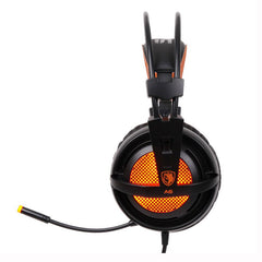 USB 7.1 Surround Sound Stereo Gaming Headphones with Breathing LED Lights