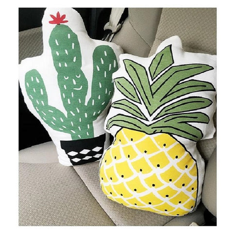 Cactus Pineapple Soft Back Seat Cushions