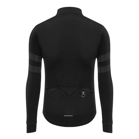 Long Sleeve Thermal Cycling Jersey with Reflective Stripe