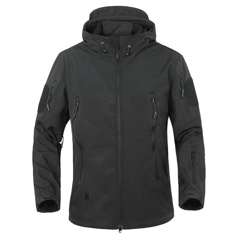Lightweight Fleece Lined Waterproof Tactical Jacket