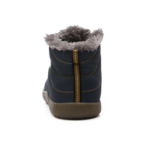 Waterproof Slip-On Winter Boots with Fur Lining