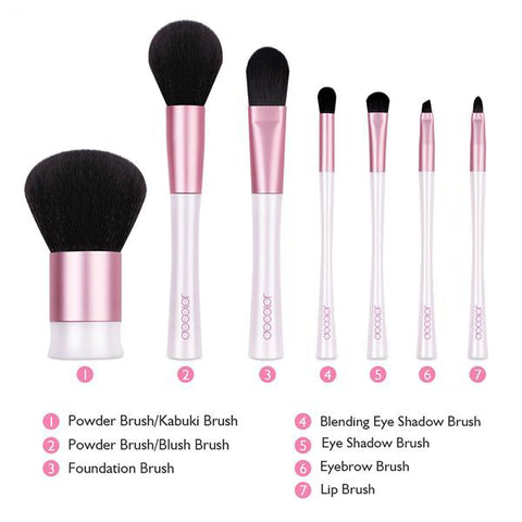 7-Piece Mermaid Makeup Brush Set with Bag