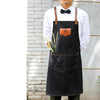 Image of Cross Back Kitchen Denim Apron