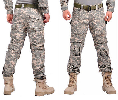 Camouflage Tactical Cargo Pants with Knee Pads