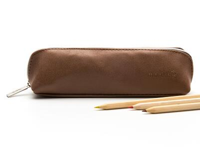Retro Faux Leather Pencil or Makeup Bag