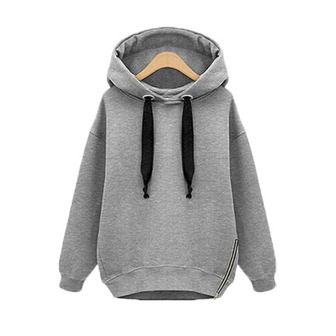 Oversized Pullover Hoodie with Plus Sizes for Women
