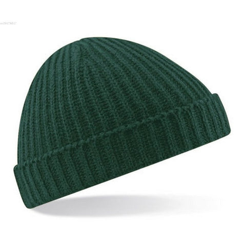 Ribbed Knit Retro Style Beanie