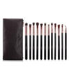 Image of 12-Piece Black & Rose Gold Eye Makeup Brush Set