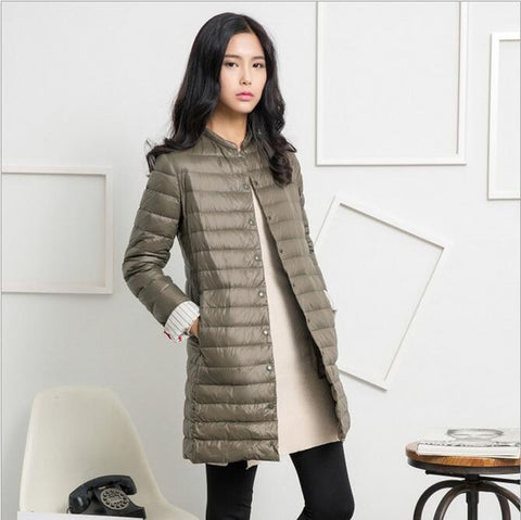 Ultra Light Down Parka Jacket for Women