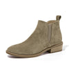 Image of Cowhide Suede Leather Winter Boots for Women