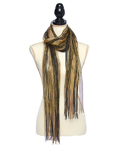 Black and Gold Metallic Two Toned Scarf