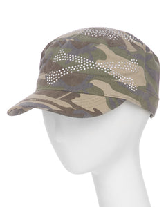 Camo Adjustable Studded Cadet Hat