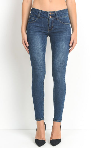 Dark Wash Skinny Fit Stretch Denim Jeans