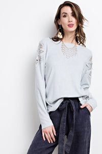 Classy Girl Crochet Loose Fitting Crochet Patch Top
