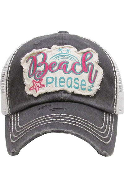 Beach Please Vintage Baseball Cap