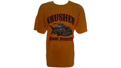Mens Krusher Old School TEE- Mustard - Krusher Marine Products