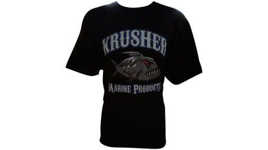 Mens Krusher Old School TEE- Black - Krusher Marine Products