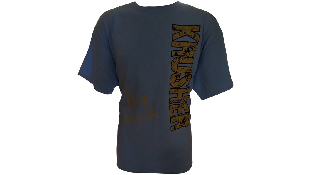 Mens Krusher Krushit CatFish TEE- Light Blue - Krusher Marine Products