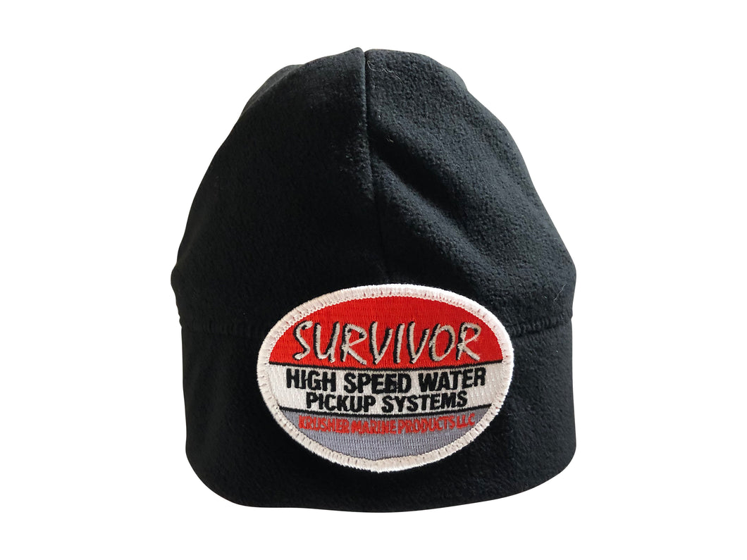 Survivor Black Fleece Beanie - Krusher Marine Products