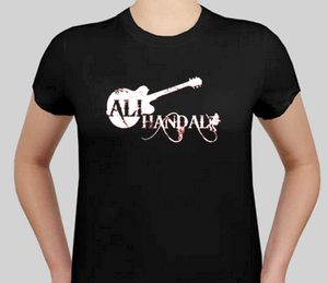 Ali Handal Logo T-Shirt - Women's Fitted Shirt, Black