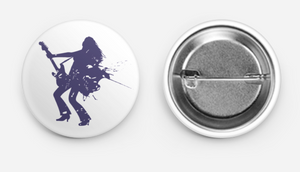 Guitar Girl Button
