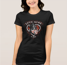 """Love More"" Women's Fitted Shirt - Black"
