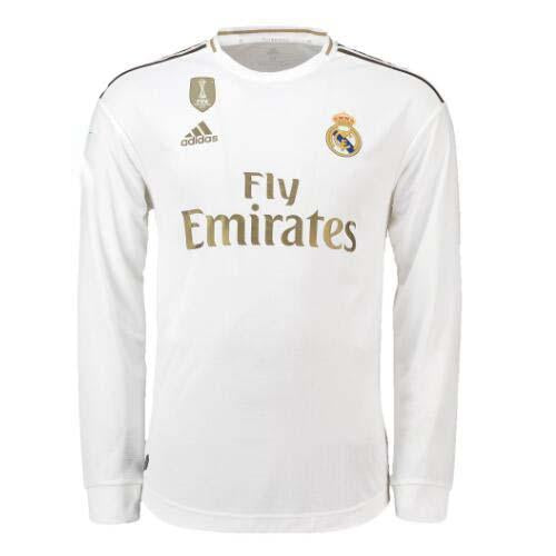 new style 8aa8f bf091 Customized 19/20 Real Madrid Home Long Sleeve Jersey(Patches/Badges)