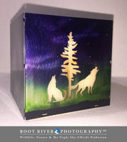 Candelabra - Large Square Candle Holder with Moose, Bear & Wolves