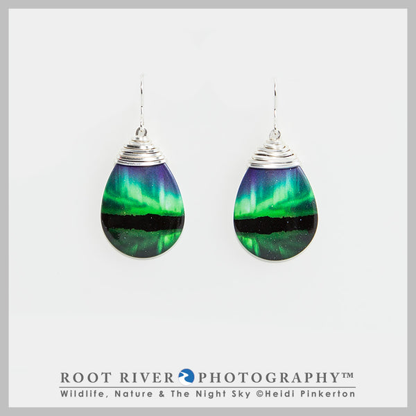 Candelabra Teardrop Earrings with Wire Adornment