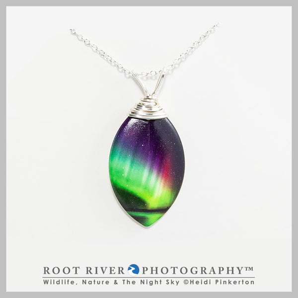 Rainbow Leaf Necklace