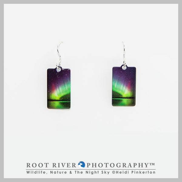 Rainbow Rectangle Earrings