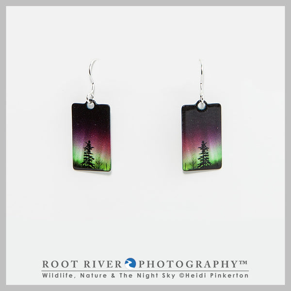 Forest of Lights Rectangle Earrings