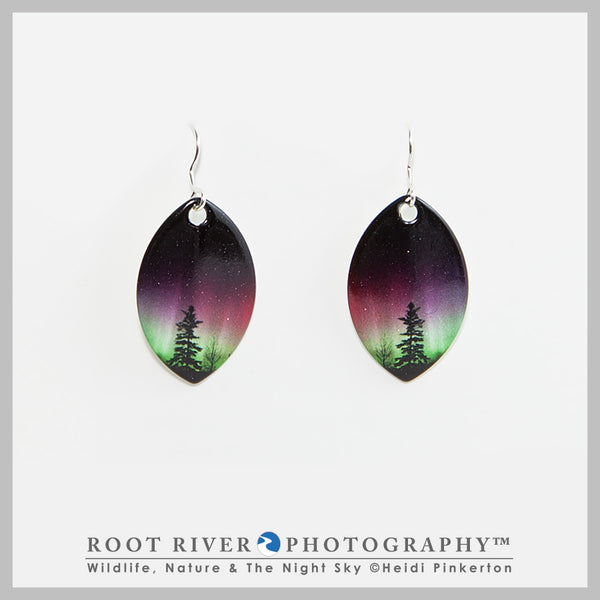 Forest of Lights Leaf Earrings
