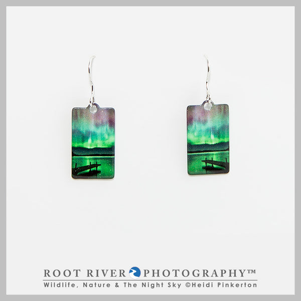 Border Patrol Rectangle Earrings