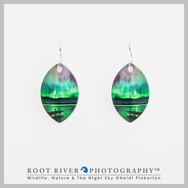 Border Patrol Leaf Earrings