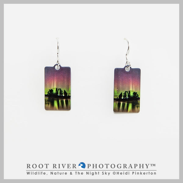 Birch Lake Rectangle Earrings