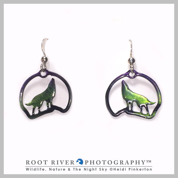 Candelabra Wolf Earrings