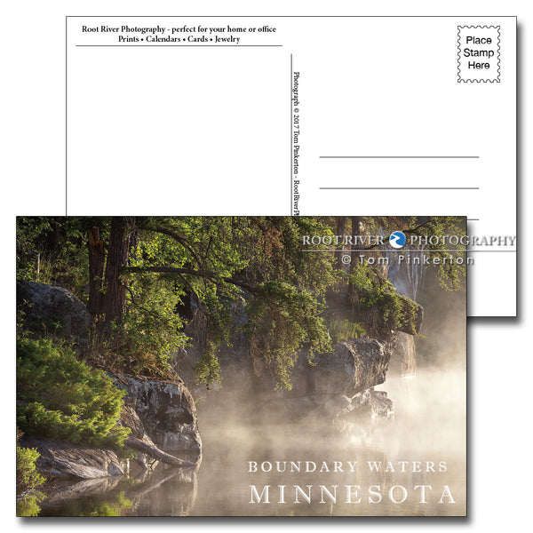 Boundary Waters Morning Mist Postcard